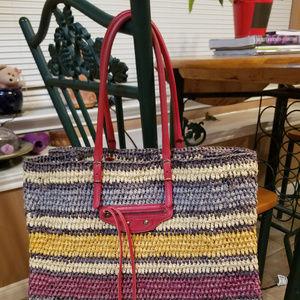 Balenciaga raffia beach bag